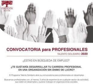 Talento Solidario: Generando empleo en el Sector